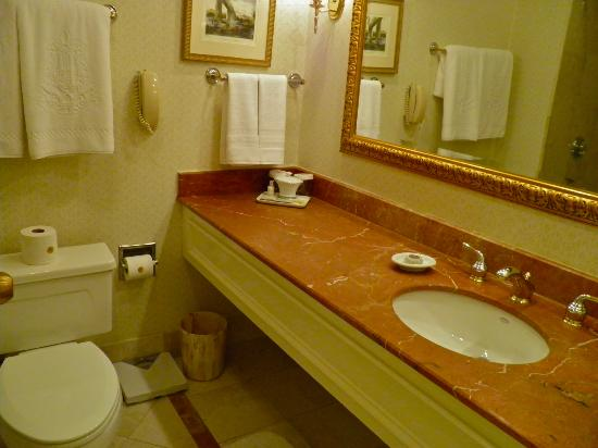 The Jefferson Hotel: King room bathroom vanity
