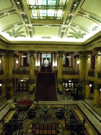 The Jefferson Hotel: Lobby and staircase view from ballroom (conference room)