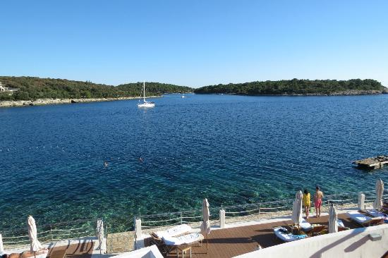 Park Plaza Histria Pula: View from Yatch Club at Hotel Histria