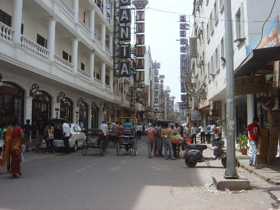 Hotel Ajanta: Road outside hotel
