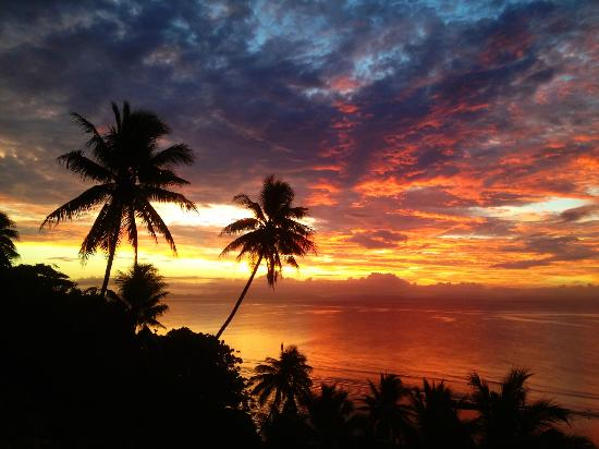Taveuni Palms Resort: Incredible sunset.