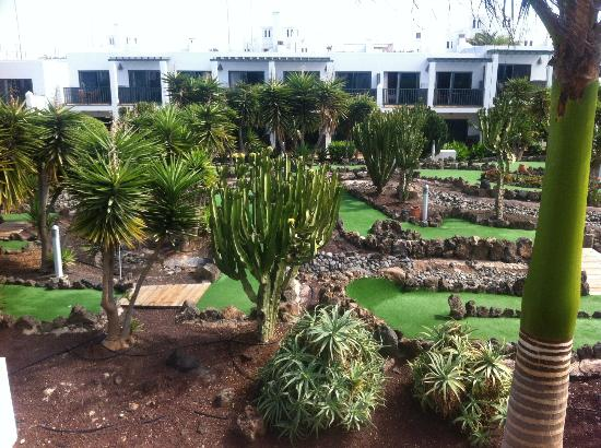 Las Marismas de Corralejo: balcony view of crazy golf