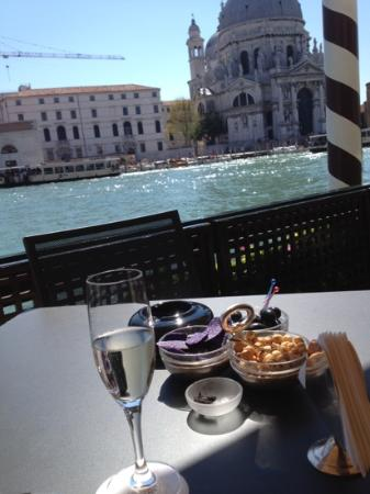The Westin Europa & Regina, Venice: just arrived sitting on hotel deck