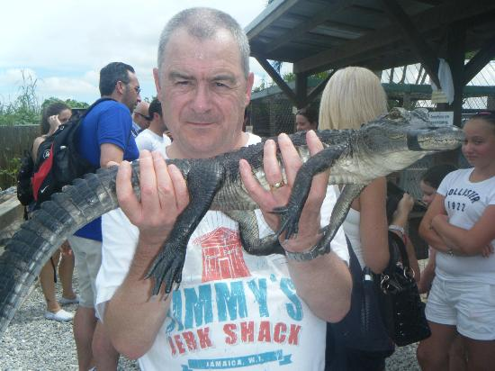 Sawgrass Recreation Park: Dad with a baby 'gator