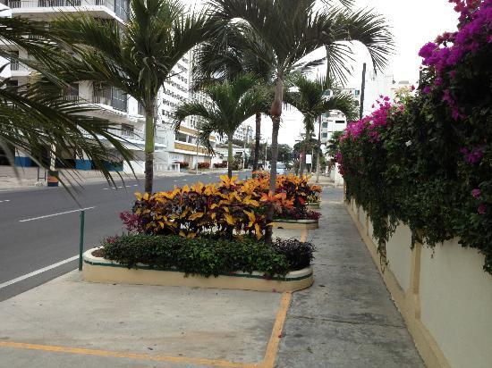 Hotel Amira in Salinas, Ecuador: Street view
