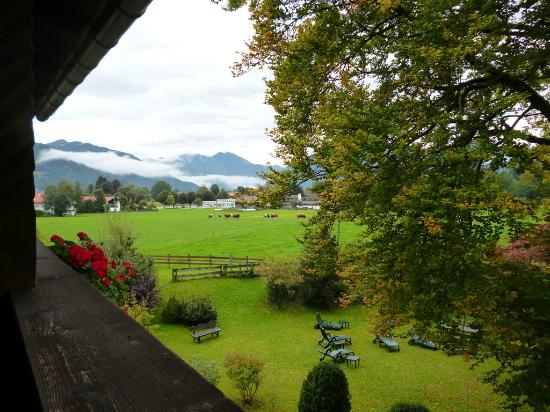 Gastehaus Linsinger : View from balcony at the back of the guest house