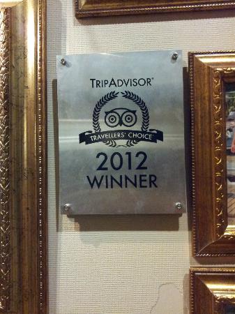 Delphin Palace Hotel: Tripdvisor award
