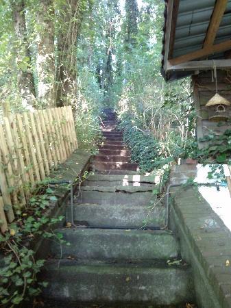 Hotel Mare Sanat: Treppe zur Sauna