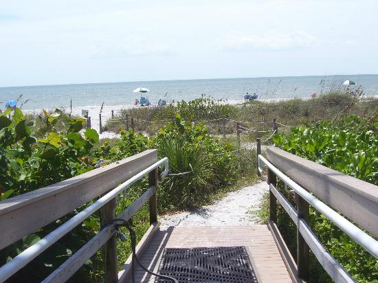 Ocean's Reach Condominiums: Walkway to beach