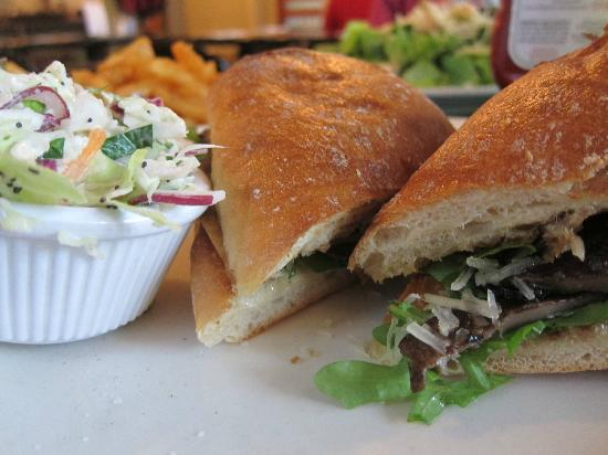 Slice of Life: Portobello mushroom sandwich- great flavor, nice portion
