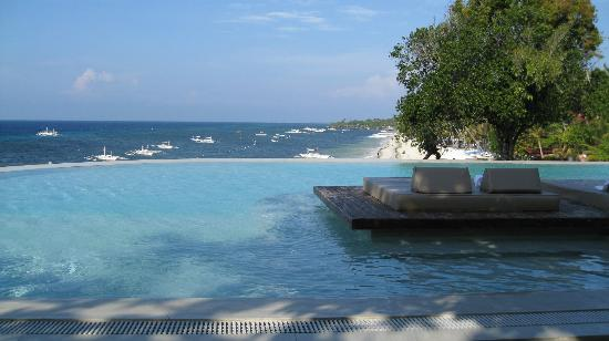 Amorita Resort: Infinity pool above Alona Beach