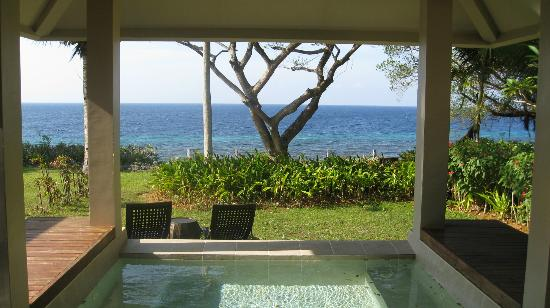 Amorita Resort: View from bed in Private Ocean View Villa No. 815