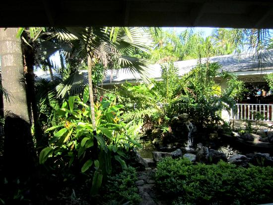 Grand Bahia Principe El Portillo: In the open air lobby far, integrating nature with space. Looked beautiful!
