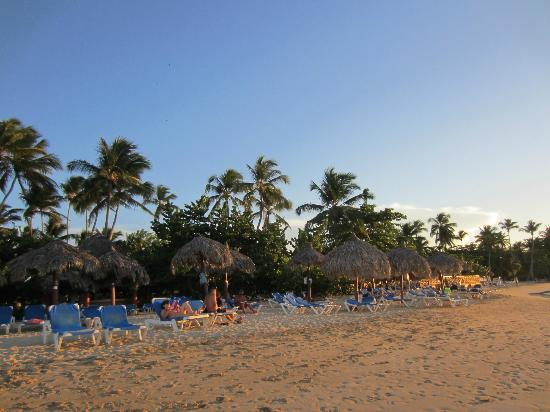 Grand Bahia Principe El Portillo: Beach in the evening, view from ocean