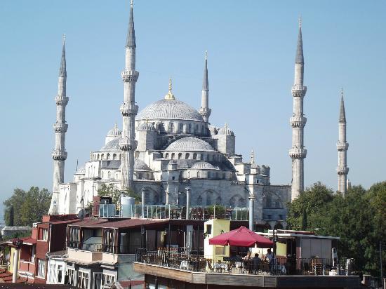 Hotel Park: Tout ce que l'on voit de la terrasse Mosquée bleue
