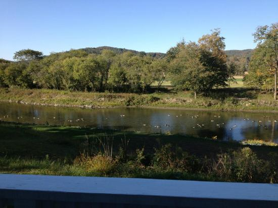 The Shire Woodstock: View of river from balcony off our room