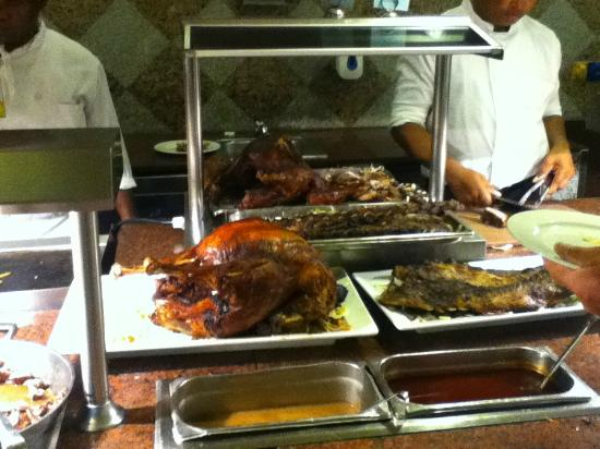 Carving station buffet picture of hotel riu palace