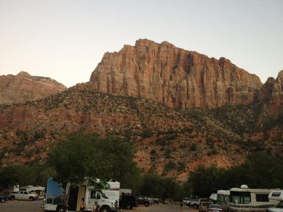 Zion Canyon Campground: The view