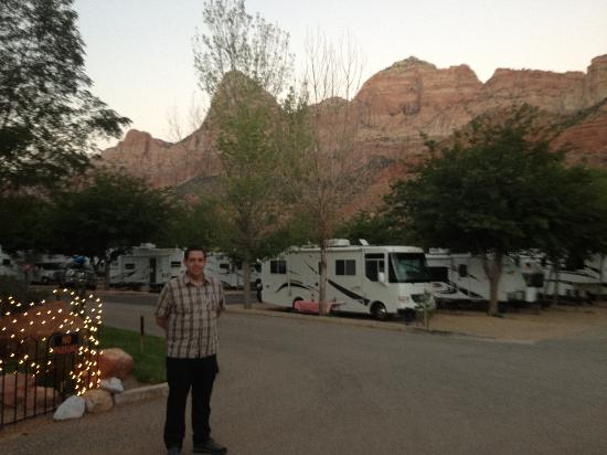 Zion Canyon Campground : RV park at sunset