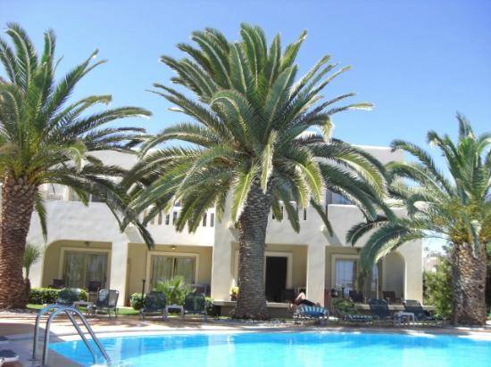 Amalthia Beach Resort: Looking toward our suite
