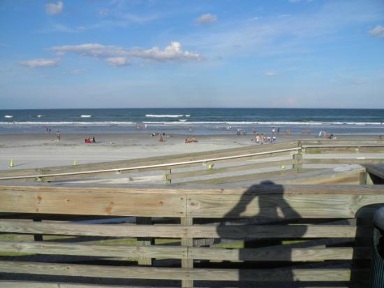 View of the beach from Sun Splash Park