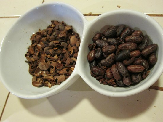 ChocoMuseo:                   The husks separated from the cocoa beans