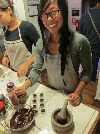 ChocoMuseo:                   Chocolate making class