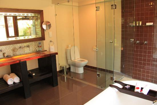 Arusha Coffee Lodge: modern bathroom