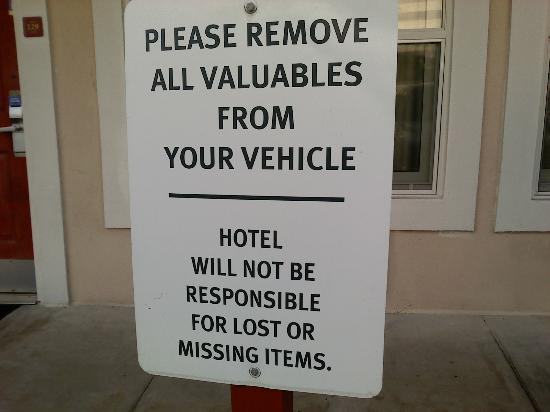 Extended Stay America - Fort Lauderdale - Cypress Creek - Andrews Ave.: Example of signs found around property.
