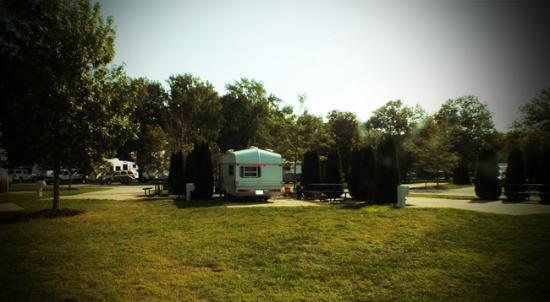 Cedar Point's Lighthouse Point: Our site at camper's village...very roomy and spacious! (also close to the washrooms)