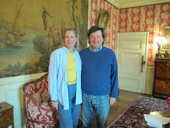 Chateau de la Barre : Marnie and Guy de Vanssay - Cheatuea de la Barre has been in Guy's family for over 600 years.
