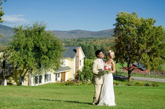 Yellow Farmhouse Inn: After our vows - above the Yellow Farmhouse
