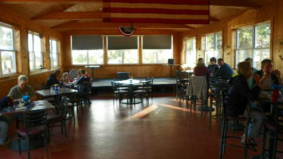 Morrisdale, PA: dining area/stage