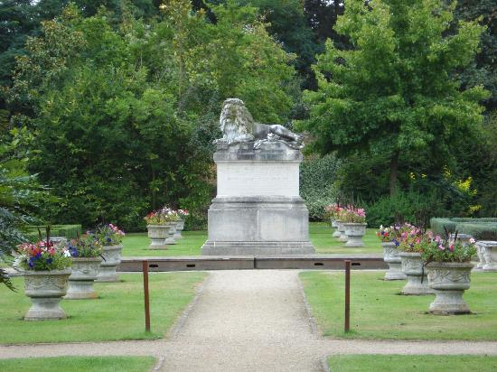 Lion statue viewed from gazebo - Picture of Sunbury Park Walled ...