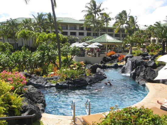 Grand Hyatt Kauai Resort & Spa: One of the winding streams for you to swim in