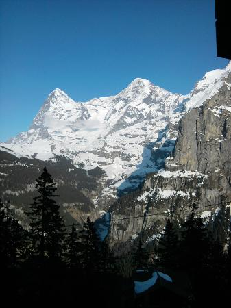 Hotel Alpenblick Mürren: View from family suite balcony
