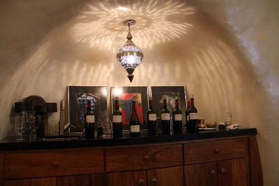 B. Wise Vineyards: Our line-up of phenomenal wines-- we ended up buying 6 bottles!