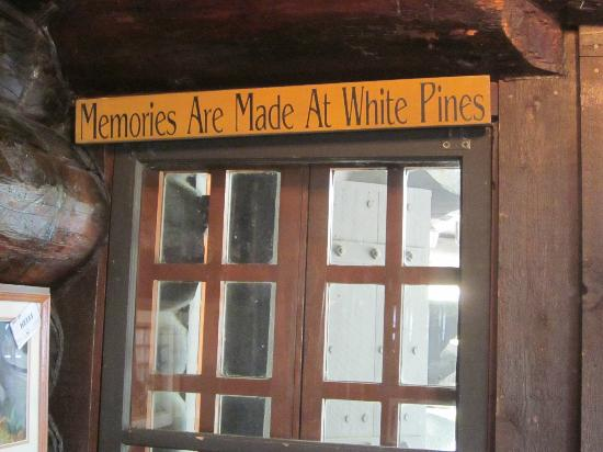 Lodge Restaurant : Indeed, wonderful memories are made at White Pines!