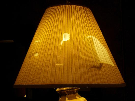 Bay View Inn: Lampshade with holes