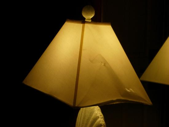 Bay View Inn: Another soiled and torn lampshade
