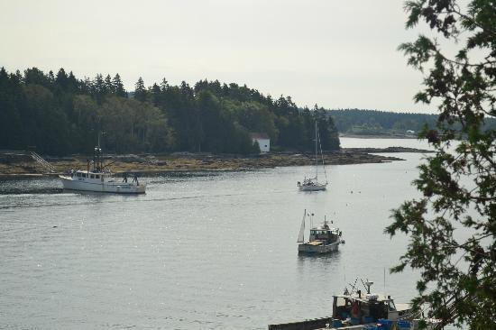 Quahog Bay Inn in Harpswell, Maine: view from the balcony