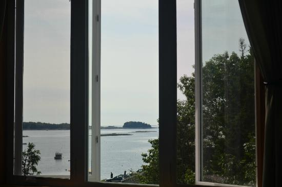 Quahog Bay Inn in Harpswell, Maine: View from the living room