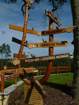 Hotel Studanka: Directional sign at hotel