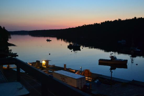 Quahog Bay Inn in Harpswell, Maine: dawn over the bay