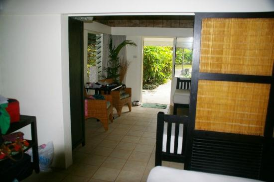 Castaway Island Fiji: Our bure- from main bedroom area
