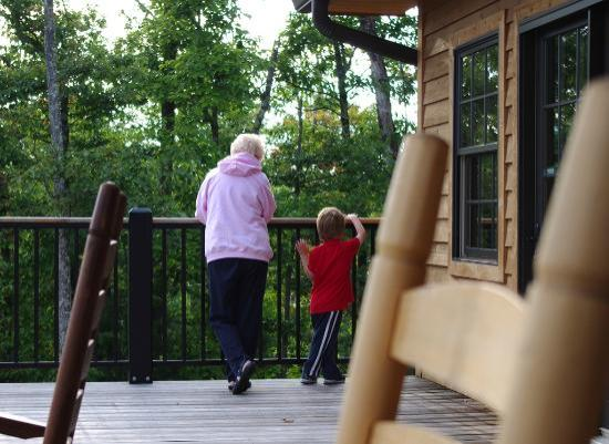 Elk Springs Resort: My mom and son spent a lot of time together on the big deck.