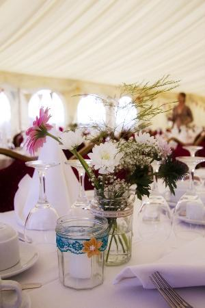 Fitzgerald's Woodlands House Hotel: Tables laid by the Woodlands Staff at Marquee venue