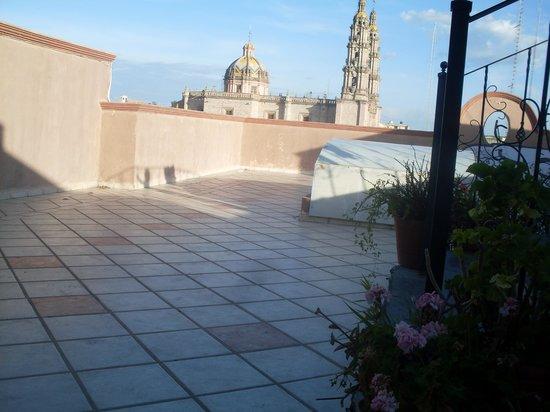 San Juan de Los Lagos, Meksiko: Terraza del hotel