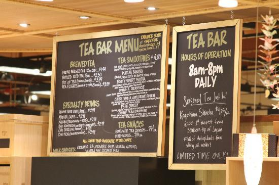 Wegmans Market Cafe: Tea Bar Menu