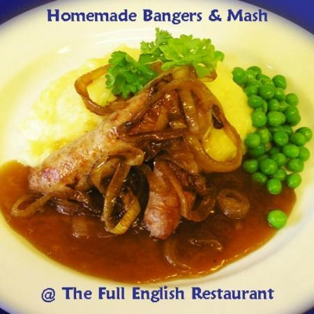 The Full English Cafe & Restaurant : Homemade Bangers with Mash